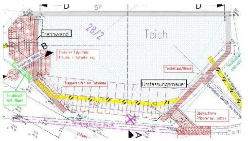 Sanierung Teichbefestigung