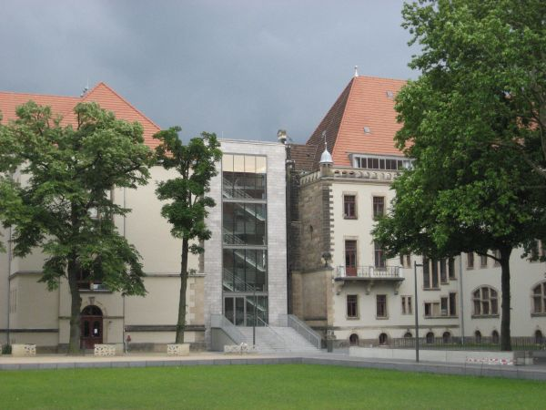 Sanierung Kreuzschule Dresden,Neubau Kreuzschule Dresden, E-Bau Haupteingang